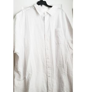 Harbor Bay Cool & Dry white button down shirt 3xl